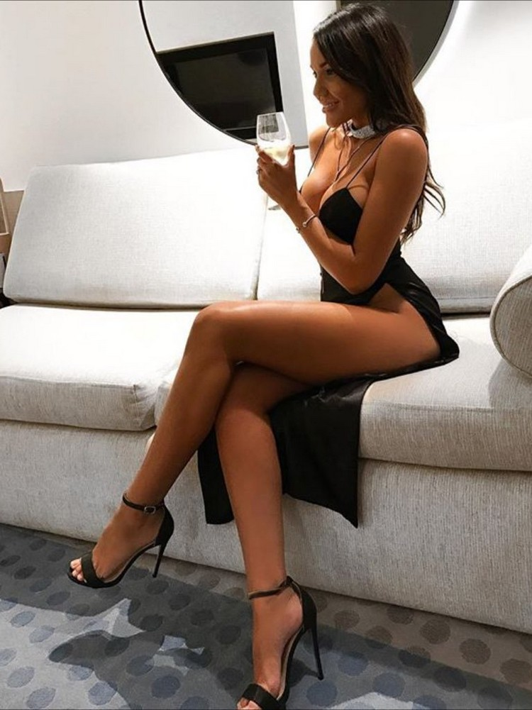 Hot Blonde Crosses Her Long Legs In Ankle Strap Heels As She Hotmovies 1